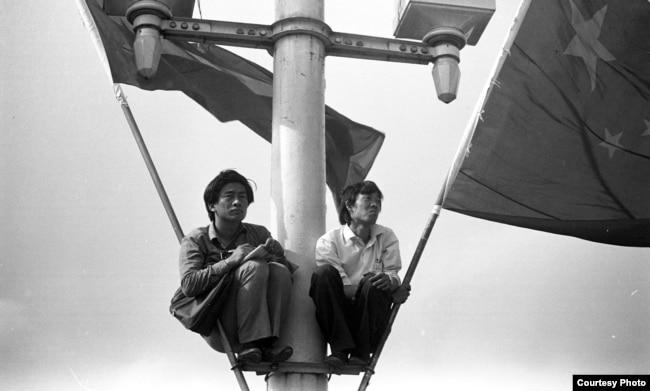 1989天安門廣場上的運動參與者