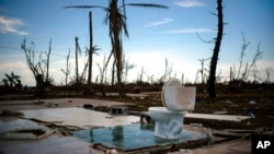 Permukiman warga di Kepulauan Bahamas hancur setelah dilanda badai Dorian pekan lalu (foto: dok).