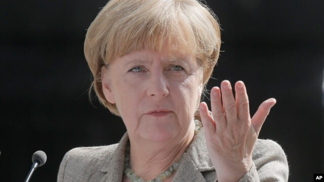 FILE - German Chancellor Angela Merkel's Christian Democratic Union considers the Alternative for Germany (AdF) party a far-right fringe group. But the AdF says a regional vote shows otherwise.