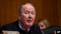 FILE - Senate Health, Education, Labor and Pensions Committee Chairman Lamar Alexander, R-Tenn. speaks on Capitol Hill, Jan. 12, 2016.