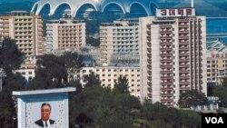 La ciudad de Pyongyang, capital de Corea del Norte.