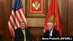 Montenegro - U.S. Secretary of State Mike Pompeo and Prime Minister of Montenegro Dusko Markovic, Podgorica, 4Oct2019