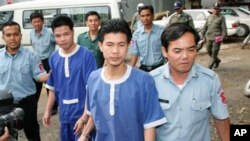 An Appeals Court judge on Thursday, April 12, 2007, upheld the Phnom Penh Municipal Court's ruling in 2005, which sentenced Born Samnang and Sok Sam Oeun to 20 years each in jail for the 2004 shooting death of Chea Vichea, who headed Cambodia's Free Trade