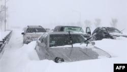 Snežna oluja u Čikagu