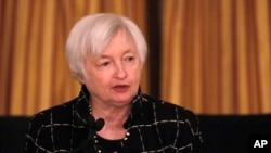 FILE - Federal Reserve Chair Janet Yellen.