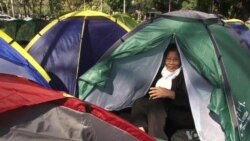 Anti-government Protesters Camp in Downtown Bangkok