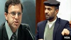 عمر زاخیلوال وزیر مالیه و عبدالظاهر قدیر عضو ولسی جرگه