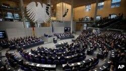 Le Bundestag, chambre basse du Parlement allemand.