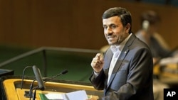 伊朗總統艾哈邁迪內賈德在聯合國大會上 發言