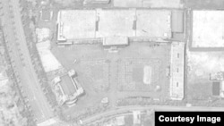 개성공단 내 신원에벤에셀을 찍은 6월16일자 '디지털 글로브'의 위성사진. 트럭 1대만이 보인다. 사진출처 = 디지털 글로브