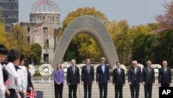 وزیران خارجه کشورهای عضو گروه ۷، به همراه فدریکا موگرینی مسئول سیاست خارجی اروپا، در ژاپن - آوریل ۲۰۱۶