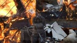 شعله های آتش هنوز در اسراییل زبانه می کشد