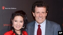 "FILE - Journalists Sheryl WuDunn and Nicholas Kristof, authors of ""A Path Appears."""