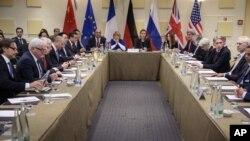جلسه ایران و کشورهای پنج به علاوه یک بعد از توافق هسته ای در سال ۲۰۱۵