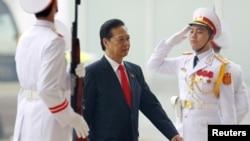 Thủ tướng Nguyễn Tấn Dũng đến dự lễ khai mạc Đại hội Đảng lần thứ 12 tại Hà Nội, ngày 21/1/2016.