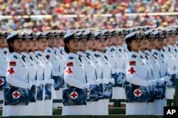 北京大阅兵中的白求恩医疗方队(2015年9月3日)