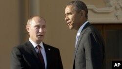 Обама и Путин в Санкт-Петербурге