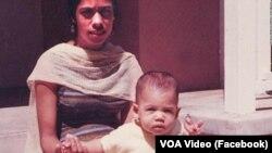 კამალა ჰარისი დედასთან ერთად. ფოტო ჰარისის ფეისბუქიდან