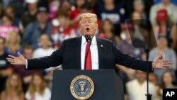 صدر ٹرمپ گزشتہ چند ہفتوں سے ری پبلکنز کی انتخابی مہم چلا رہے ہیں جس کے دوران انہوں نے کئی جلسوں سے خطاب کیا ہے۔