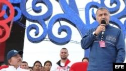 ნიკარაგუას დიქტატორი ორტეგა და ოსი სეპარატისტების ლიდერი ბიბილოვი მანაგუაში