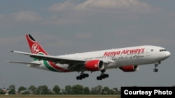 Un avion de Kenya Airways