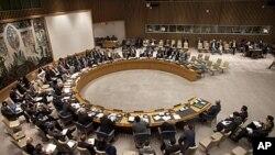 联合国安理会4月21日在纽约联合国总部开会,讨论叙利亚局势