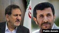 محمود احمدی نژاد و اسحاق جهانگیری معاون اول رئیس جمهوری ایران
