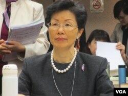 台湾陆委会主委张小月12月19号出席立法院内政委员会议