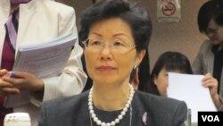 台灣陸委會主委張小月12月19號出席立法院內政委員會議資料照。