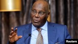 Le 16 janvier 2019, le candidat à la présidentielle du principal parti d'opposition nigérian, Atiku Abubakar, lors d'une interview avec Reuters à Lagos, au Nigéria.