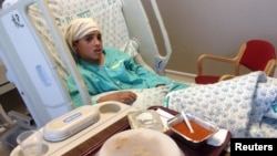 Ahmed Manasra, 13 ans, à l'hôpital de Hadassah a Jérusalem le 15 octobre 2015.