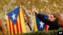 Протест у Мадриді на підтримку незалежності Каталонії