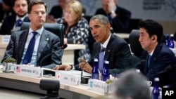 Presiden AS Barack Obama berbicara pada KTT Keamanan Nuklir di Washington DC, Jumat (1/4).