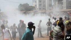 Manifestation à Conakry en Guinée
