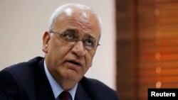 사엡 에레카트 팔레스타인 평화협상 대표 (자료사진)