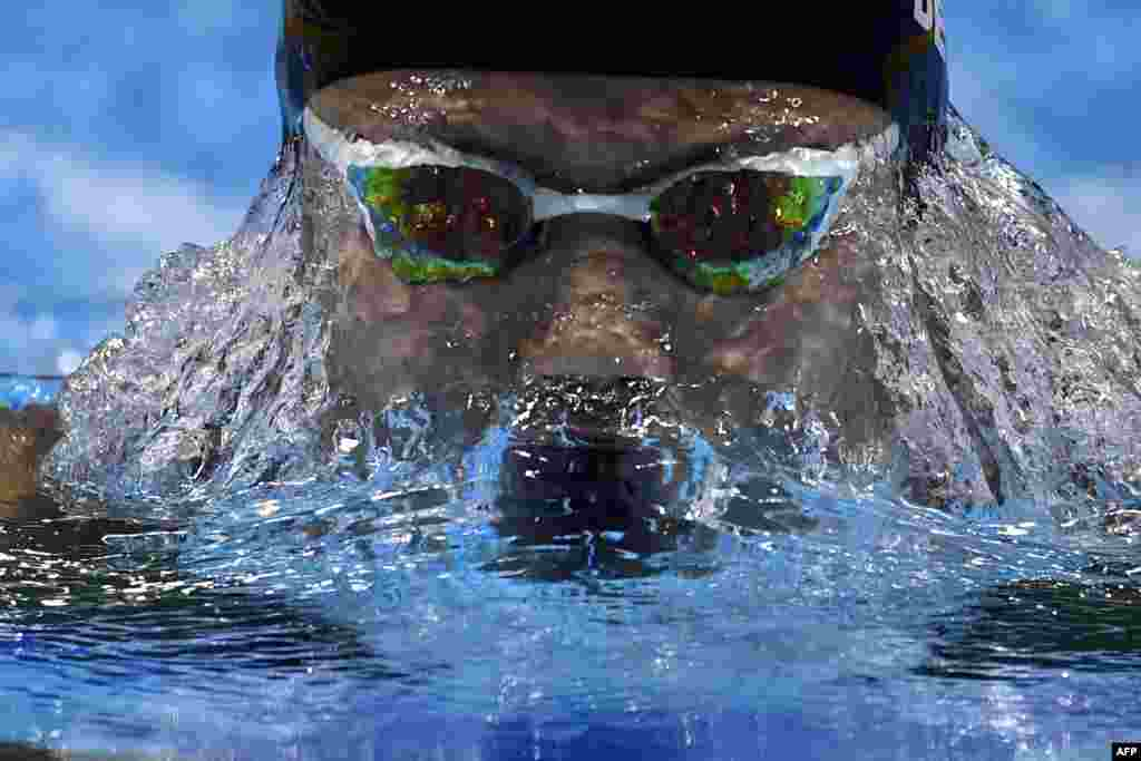 Indonesia's Ressa Kania Dewi competes in a women's 200m medley heat during the swimming competition at the 2017 FINA World Championships in Budapest, Hungary.