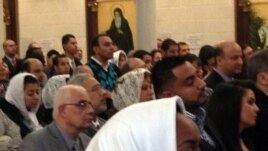 Egyptian-American Copts in celebrate Christmas at the St. Mark Orthodox Church in Fairfax, Virginia, on January 6, 2013. (Mohamed Elshinnawi)