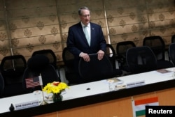 U.S. House Judiciary Committee chairman Bob Goodlatte waits for the India's Minister of Law and Information and Technology Ravi Shankar (not pictured) to arrive before start of their meeting in new Delhi, India, Feb. 21, 2017.