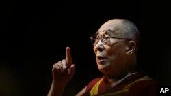 Le chef spirituel tibétain dalaï lama lors d'un événement public à New Delhi, Inde, 10 août 2017