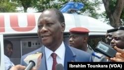 Le président ivoirien Alassane Ouattara, 29 mai 2017. (VOA/Ibrahim Tounkara).