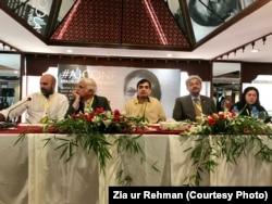 عاضمہ جہانگیر کانفرنس کے دوسرے روز کے اجلاس کی ایک نشست کے مقررین۔ 20 اکتوبر 2019