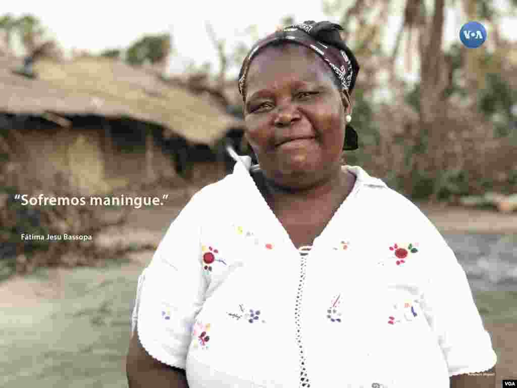 Fatima Bassopa perdeu tudo - conheça a sua história seguindo a #retratosidai ou http://bit.ly/2Gz-VOA no Instagram da VOA Portugues