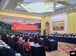 新疆人大代表团讨论总理工作报告