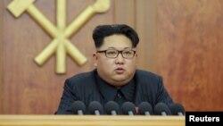 Nhà lãnh đạo Bắc Triều Tiên Kim Jong Un. Các chuyên gia cho rằng ông Kim Jong Un thực hiện hành động gây hấn nhằm mặc cả với Trung Quốc và Nam Triều Tiên.