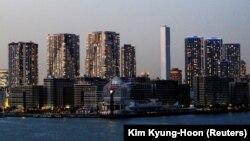Desa atlet Olimpiade Tokyo 2020, di Tokyo, 7 April 2021. (Foto: Kim Kyung-Hoon/Reuters)