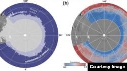 Esta imagen, que muestra a teóricos del hemisferio norte de Marte, es el resultado de un estudio en el que participaron investigadores del Laboratorio de Propulsión a Chorro de la NASA y el Instituto de Ciencias Planetarias en Tucson, Arizona.
