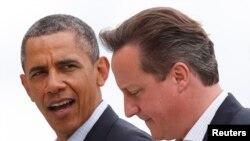 Predsednik Barak Obama i britanski premijer Dejvid Kameron tokom sastanka G8 u Severnoj Irskoj, 18. juni, 2013.