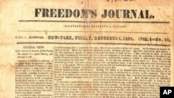 """Jedno od prvih izdanja """"Freedom's Journala"""""""