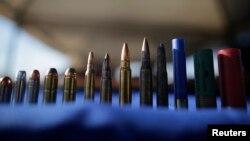 Las balas encontradas, de diferente calibre, serán destruidas, según informó el gobierno mexicano.
