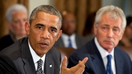 Барак Обама і Чак Гейґел, 15 жовтня.